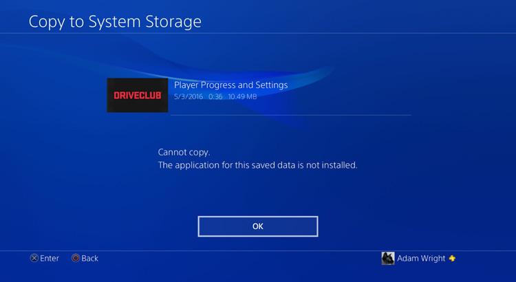 PS4 Save Copy