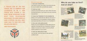 Killzone PS2 Promo network instructions B